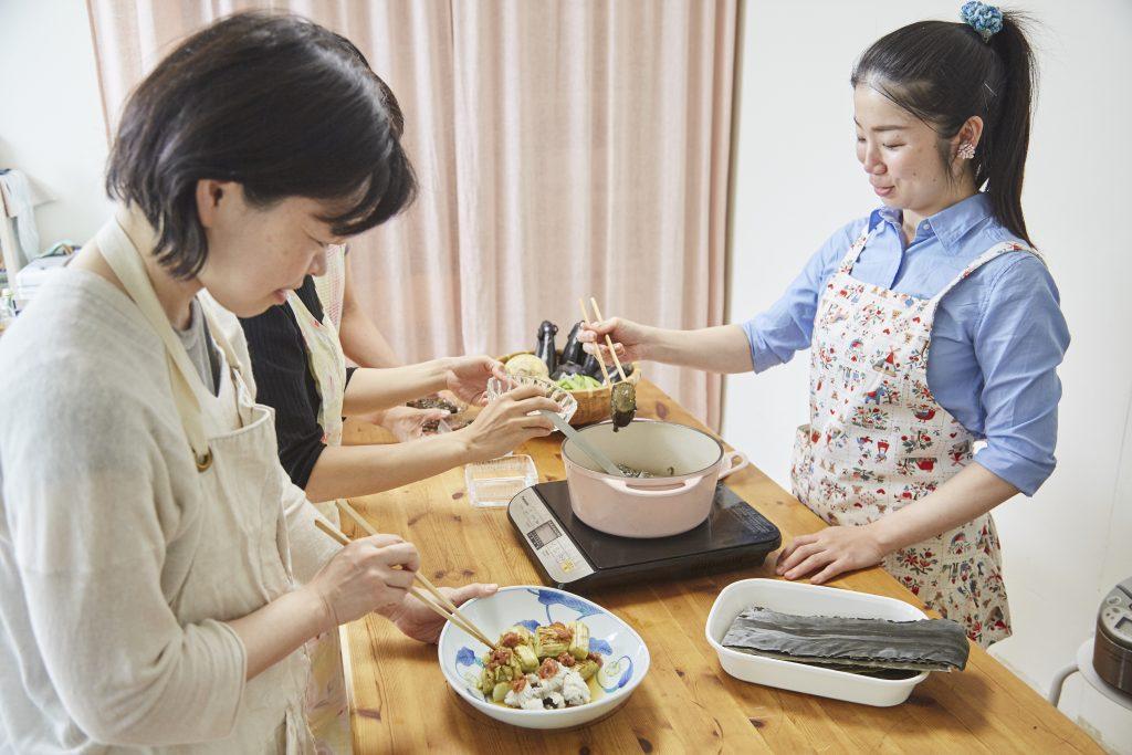 5月通常レッスン「大阪なす&梅味噌」レポ #4