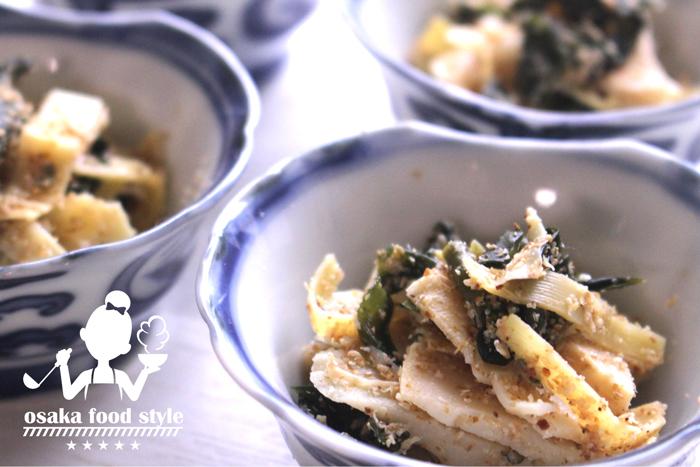 タケノコとワカメのショウガごま酢のサムネイル