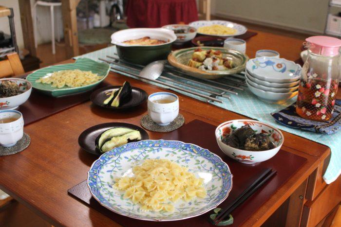 大阪なす、ハモ、パスタ、大阪産、女子会、大阪、天王寺、健康、野菜、和食、料理教室、健彩青果、大畑ちつる、レシピ、阿倍野区