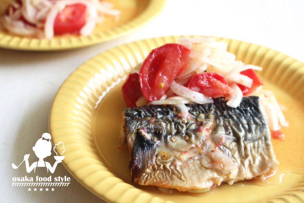 夏タマネギと塩鯖のトマト酢浸しのサムネイル