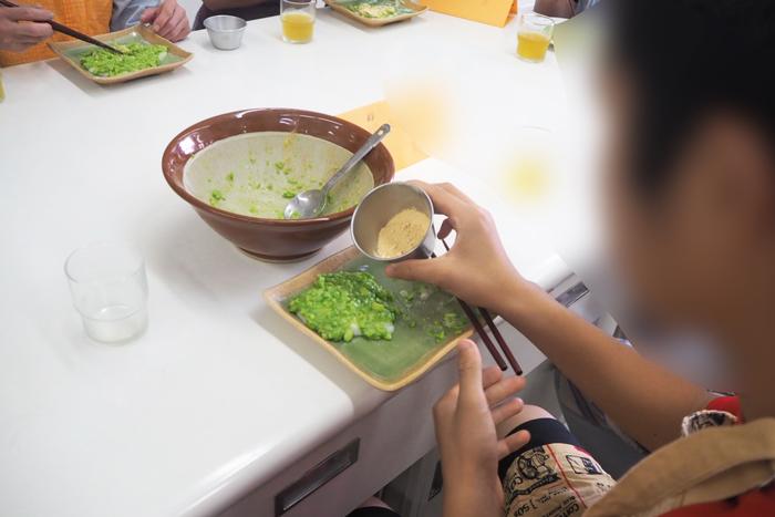 野菜料理教室、天王寺、阿倍野区、美章園、大阪市、osakafoodstyle、大畑ちつる、健彩青果、和食、レシピ、発達障害料理教室