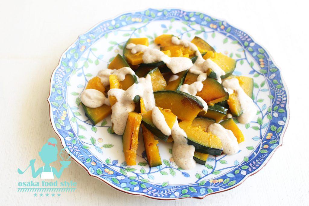 焼きカボチャの豆腐ドレッシングのサムネイル