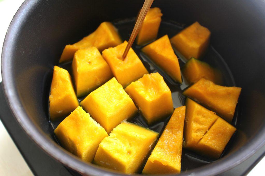 カボチャの薄口しょうゆ煮のサムネイル
