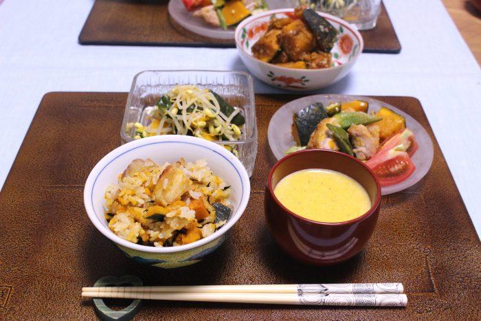 カボチャのポタージュ、osakafoodstyle、なにわ料理、大阪産、女子会、大阪、天王寺、健康、野菜、和食、料理教室、健彩青果、大畑ちつる、レシピ