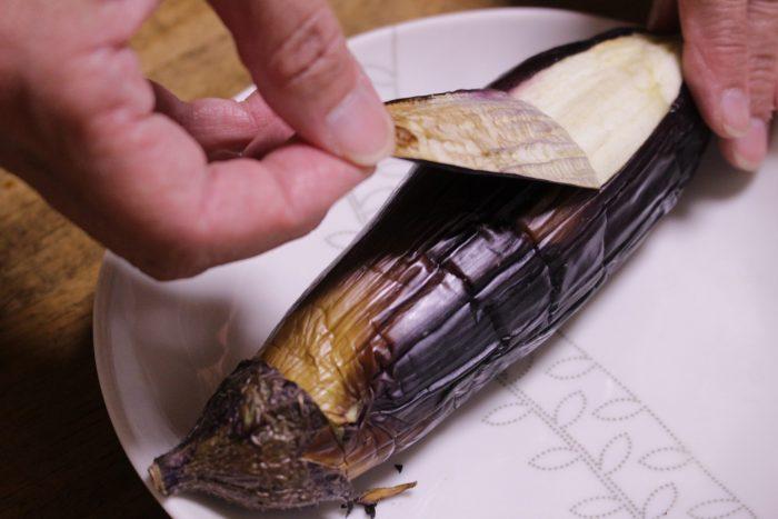焼きなす皮むき、osakafoodstyle、なにわ料理、大阪産、女子会、大阪、天王寺、健康、野菜、和食、料理教室、健彩青果、大畑ちつる、レシピ