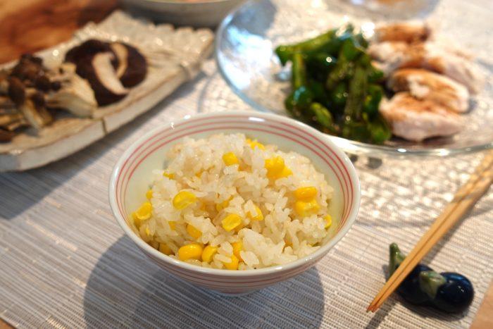 糖尿病食レッスンとうもろこしご飯、osakafoodstyle、なにわ料理、大阪産、女子会、大阪、天王寺、健康、野菜、和食、料理教室、健彩青果、大畑ちつる、レシピ、おばんざい、個人、大阪市