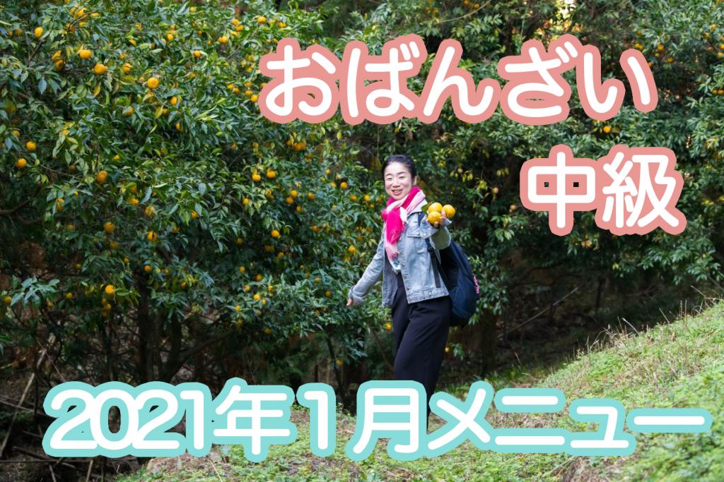 【中級】2021年1月レッスン「ゆず」