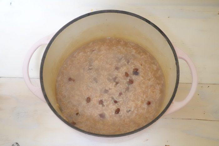 小豆粥、小豆がゆ、なにわの料理教室osakafoodstyle